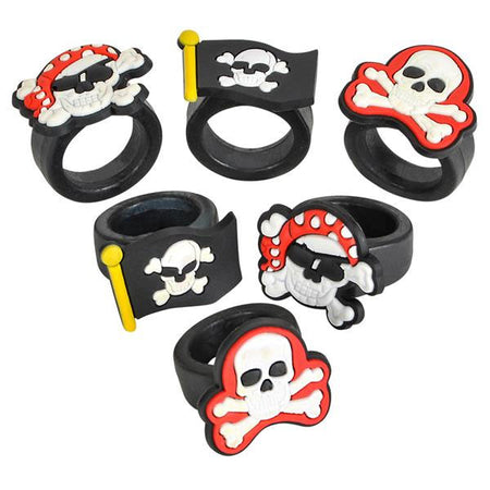 Rubber Pirate Rings 12 pk