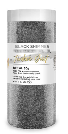 Tinker Dust Edible Glitter Refill Jar- Black