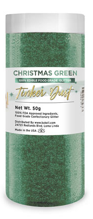 Tinker Dust Edible Glitter Refill Jar- Christmas Green
