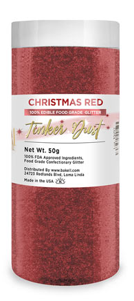 Tinker Dust Edible Glitter Refill Jar- Christmas Red