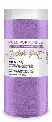 Tinker Dust Edible Glitter Refill Jar- Pollipop Purple