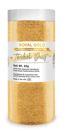 Tinker Dust Edible Glitter Refill Jar- Royal Gold