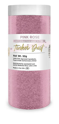 Tinker Dust Edible Glitter Refill Jar- Soft Pink