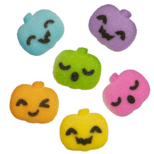 Edible Party Pumpkins Charms Assorted Sugars 288 pcs