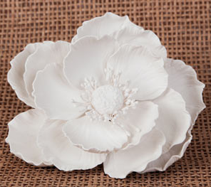 Large Poppy Flower - White - 1ct