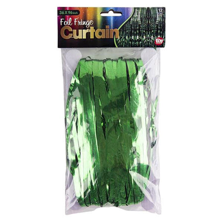 3' x 8' Green Foil Fringe Curtain