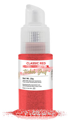 Tinker Dust Edible Glitter Spray Pump Bottle- Classic Red