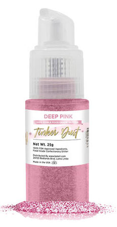 Tinker Dust Edible Glitter Spray Pump Bottle- Deep Pink