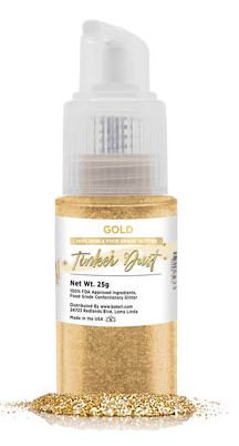 Tinker Dust Edible Glitter Spray Pump Bottle- Gold