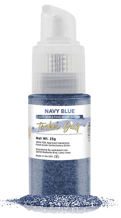 Tinker Dust Edible Glitter Spray Pump Bottle- Navy Blue