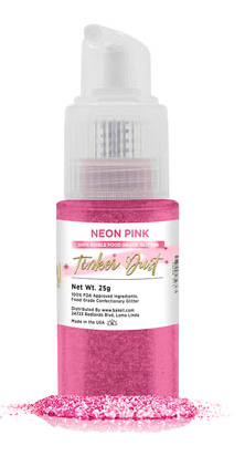 Tinker Dust Edible Glitter Spray Pump Bottle- Neon Pink