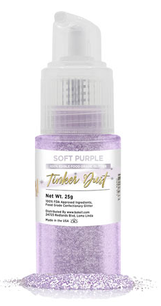 Tinker Dust Edible Glitter Spray Pump Bottle- Soft Purple