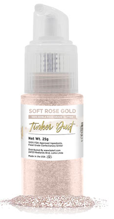 Tinker Dust Edible Glitter Spray Pump Bottle- Soft Rose Gold