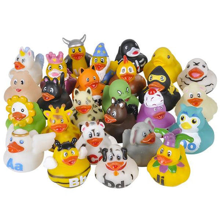 "2"" Alphabet Rubber Duckies - 26 count"