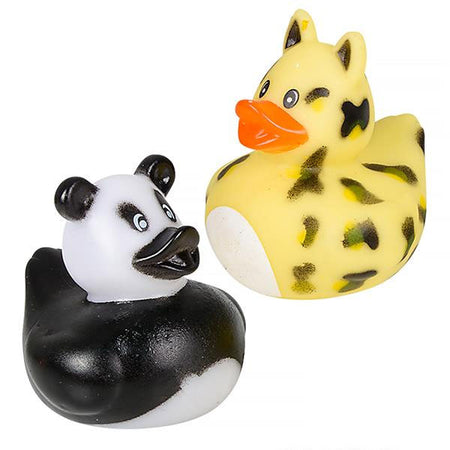 "2"" Zoo Animal Rubber Ducks - 12 COUNT"