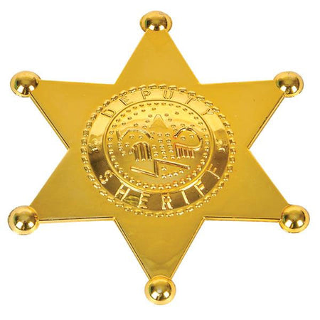 "2.5"" Plastic Sheriff Badge 12 pk"