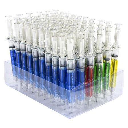 "5"" Assorted Color Syringe Pens 12 ct"