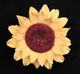Sunflower Single (Gumpaste) - Large -  6ct