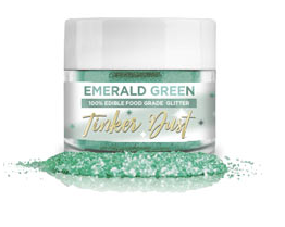 Tinker Dust Edible Glitter- 5 grams - Emerald Green