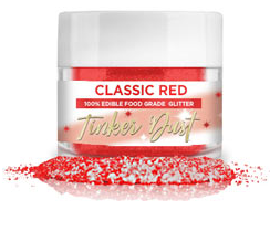 Tinker Dust Edible Glitter- 5 grams - Classic Red