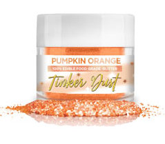 Tinker Dust Edible Glitter- 5 grams - Pumpkin Orange
