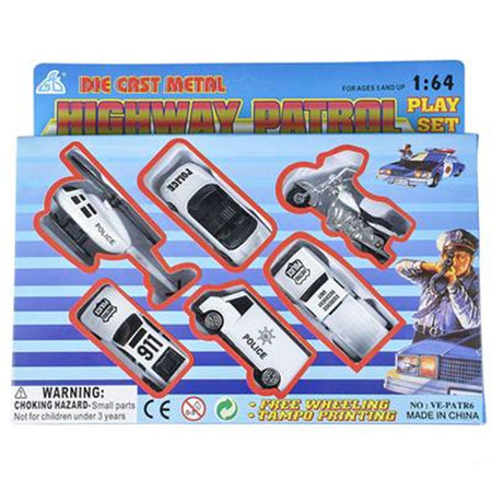 Police & Highway Patrol Vehicles Die-Cast Playset