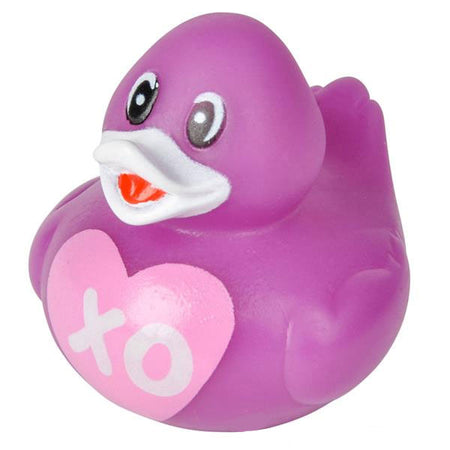 "2"" VALENTINES RUBBER DUCKIES - 12 COUNT"