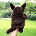 Hand Puppet Lovely Animal Plush Childhood Soft Toy Wolf Shape Story Pretend Playing Dolls Gift Finger Puppets Toy On Hand