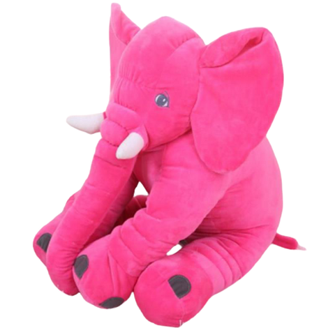 peluche elephant rose geant