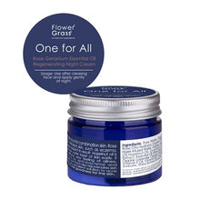 將圖片載入圖庫檢視器 玫瑰天竺葵精油再生晚霜 One for All Rose Geranium Essential Oil Regenerating Night Cream