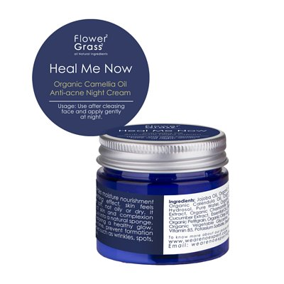 有機茶花籽油粉刺護理晚霜 Heal Me Now Organic Camellia Oil Anti-acne Night Cream