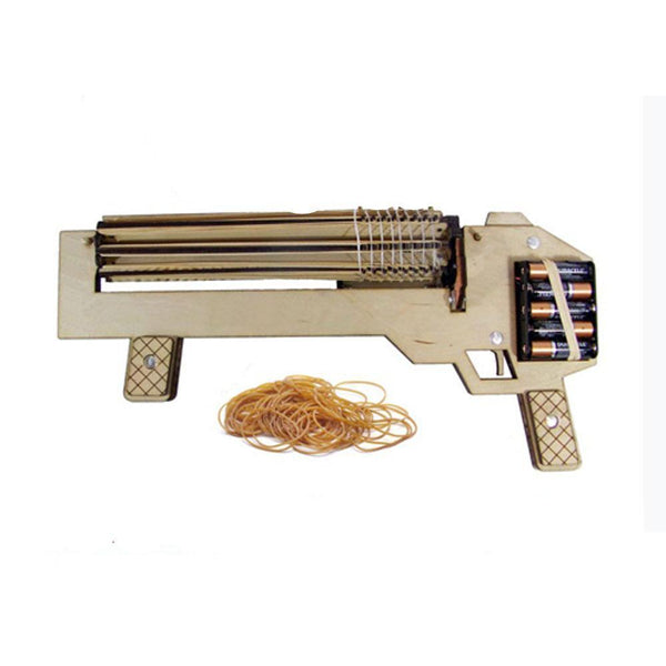 Rubber Band Wooden Machine Gun