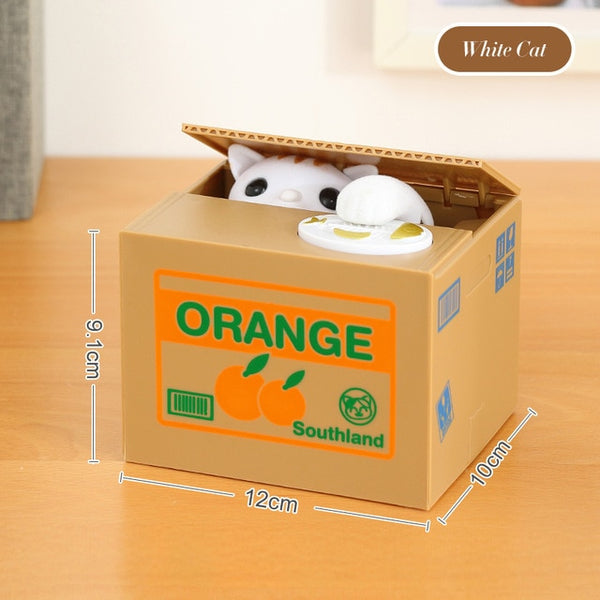 Cat Piggy Bank Coin Box