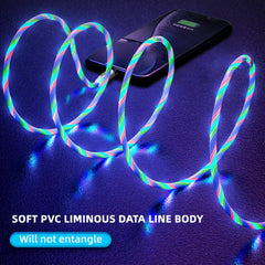 Magnetic Absorption LED Flowing Light Fast Charging Cable