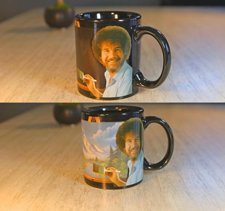 Bob Ross Heat Activated Changing Canvas Mug