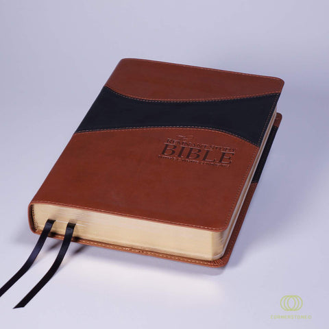 Remnant Study Bible KJV Leather-soft Brown/Black THUMB INDEX