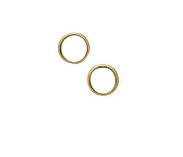 Open Circle Gold Studs