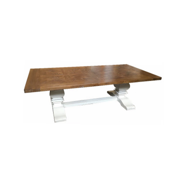 Kensington Natural Top, White Legs Coffee Table