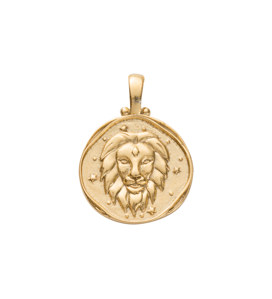 Leo Zodiac Gold Lion