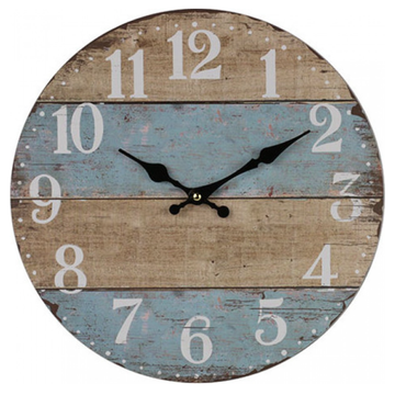 Clock French Blue Stripe Small