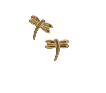 Dragonfly Gold Studs
