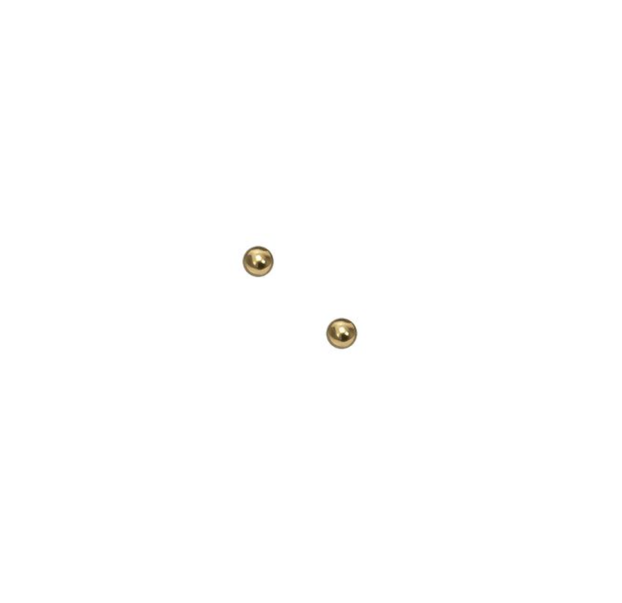 Tiny Dot Gold Studs