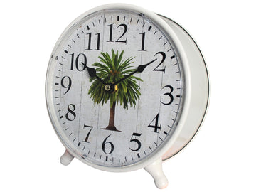 Table Clock Date Palm