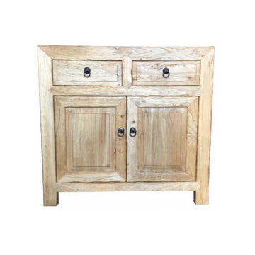 Chinese Antique 2 Drawer, 2 Door Cabinet