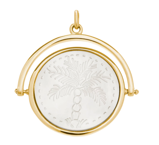 Island Palm Spinner 18K Yellow Gold