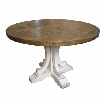 Ronde Round Dining Table White Base