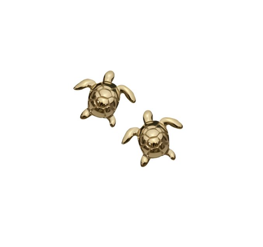 Turtle Gold Studs