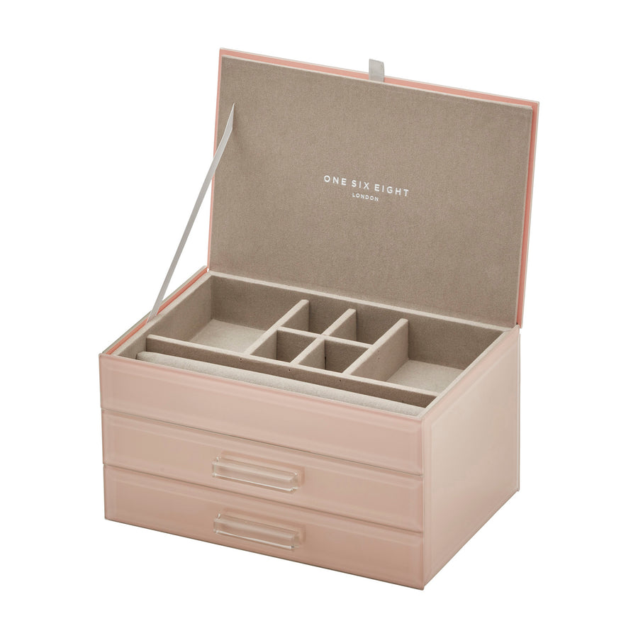 Gabriella Blush Medium Jewellery Box