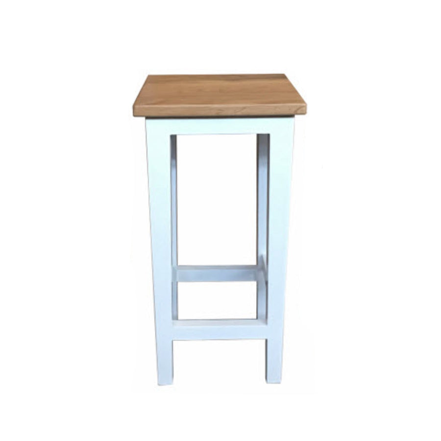 Oak Stool, White Base 65cm