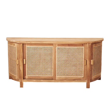 St Barts Rattan Curved Buffet